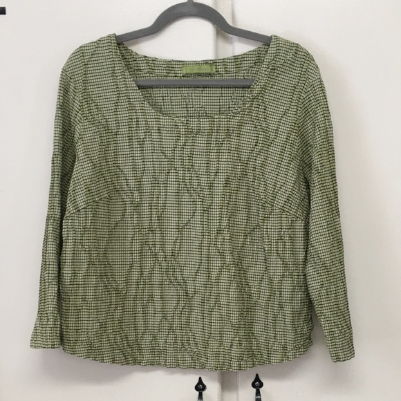 cut loose Tops - Textured Green Top by Cut Loose
